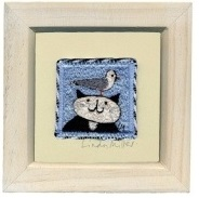 Linda Miller Cat and Seagull