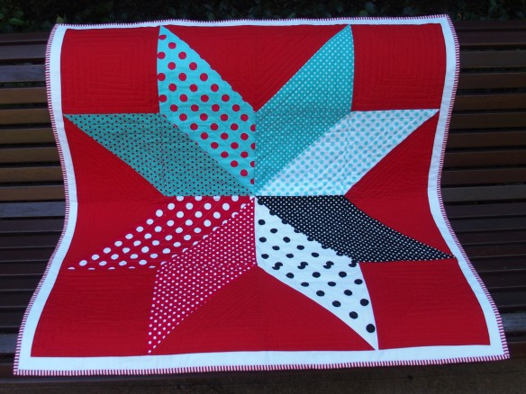 Bright Star baby quilt Finished October 2014