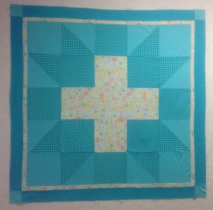 Astral baby quilt