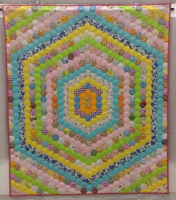 Honeycomb Hexagons:unknown maker Cottons, Alaska, c 1975