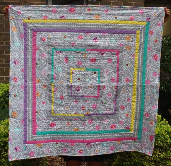Log Cabin baby quilt  March 2015
