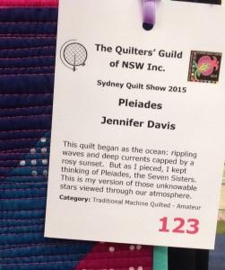 Jen's quilt label